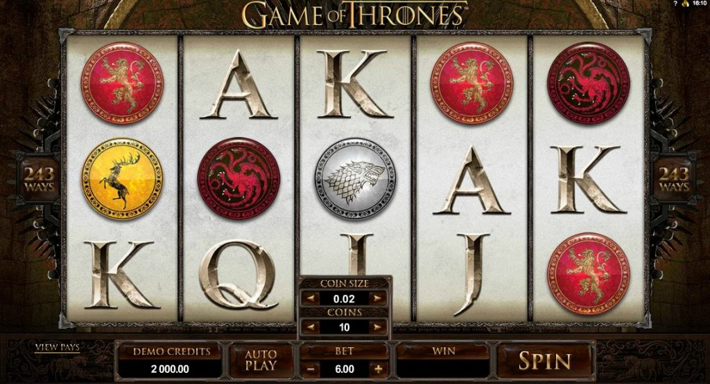 Game of Thrones Slot screenshot